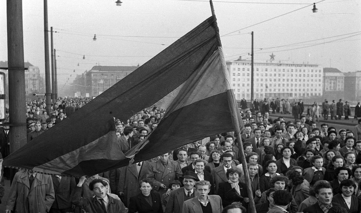 Manifestation d'octobre 1956