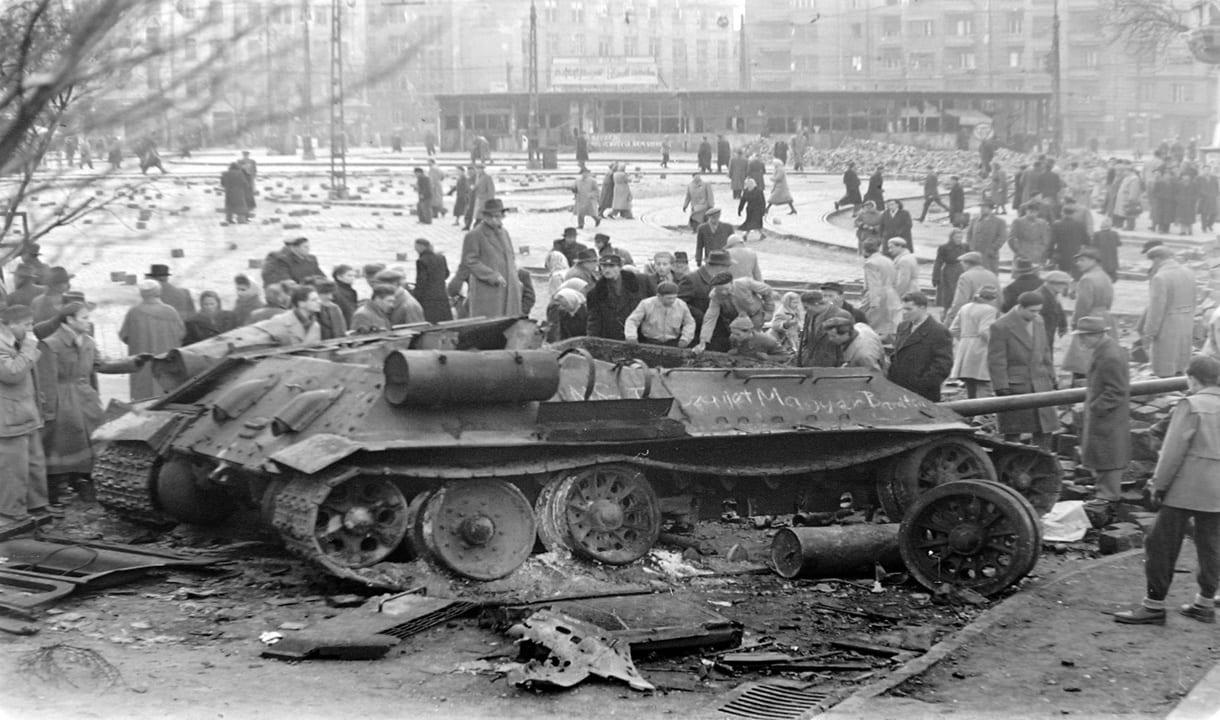 Combats de rue à Budapest