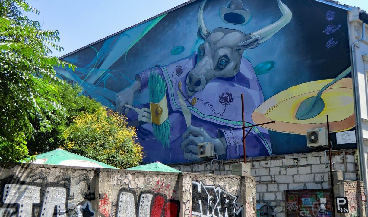 Fresque murale du quartier juif