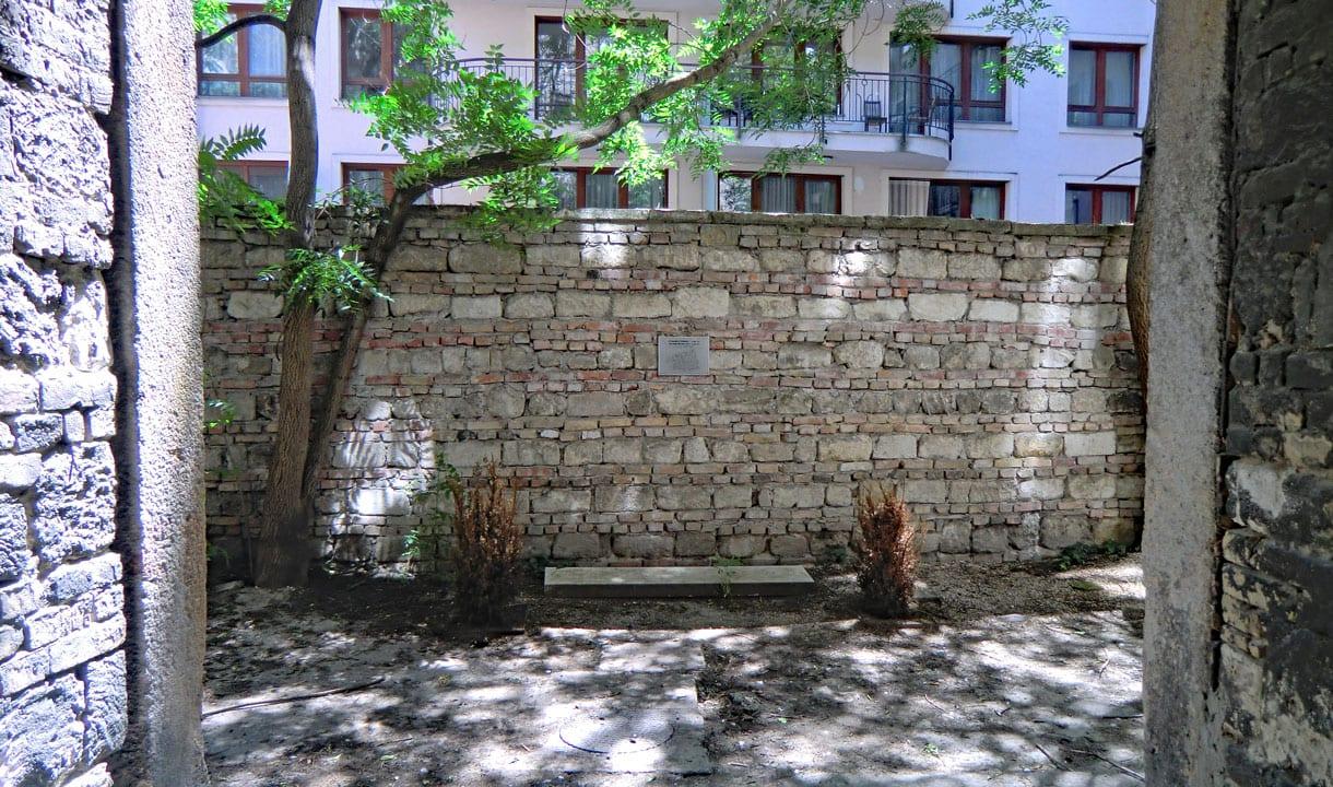 Ancien mur du ghetto de Budapest