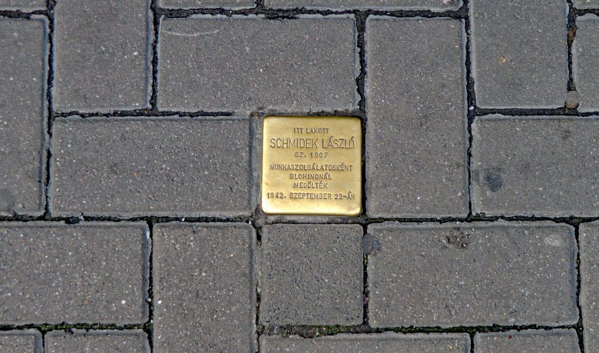 Plaque commémorative dans le quartier juif