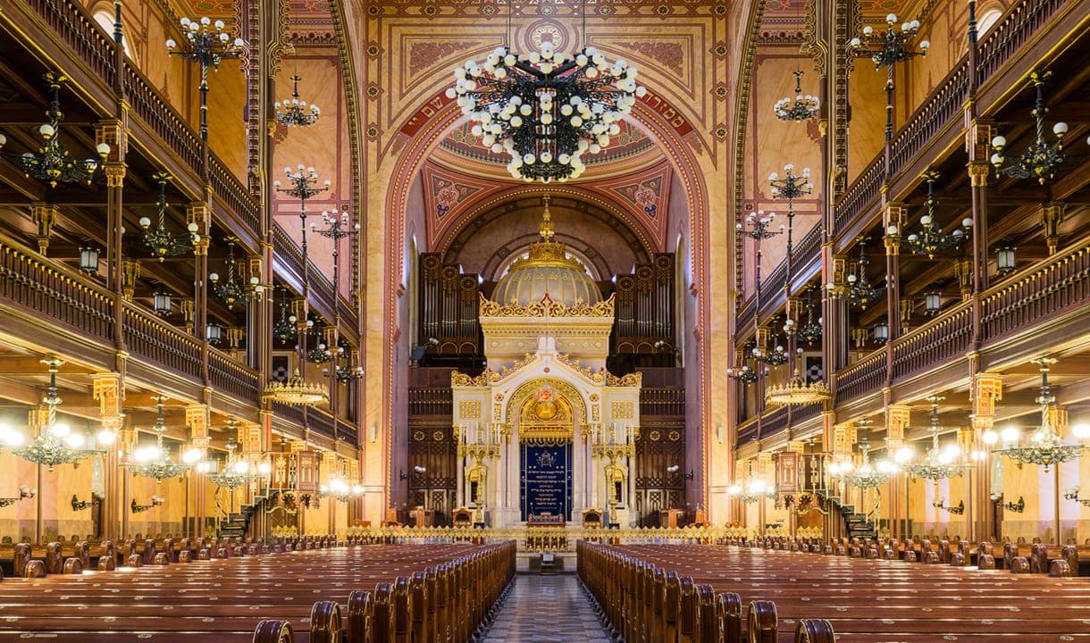 Intérieur de la Grande synagogue