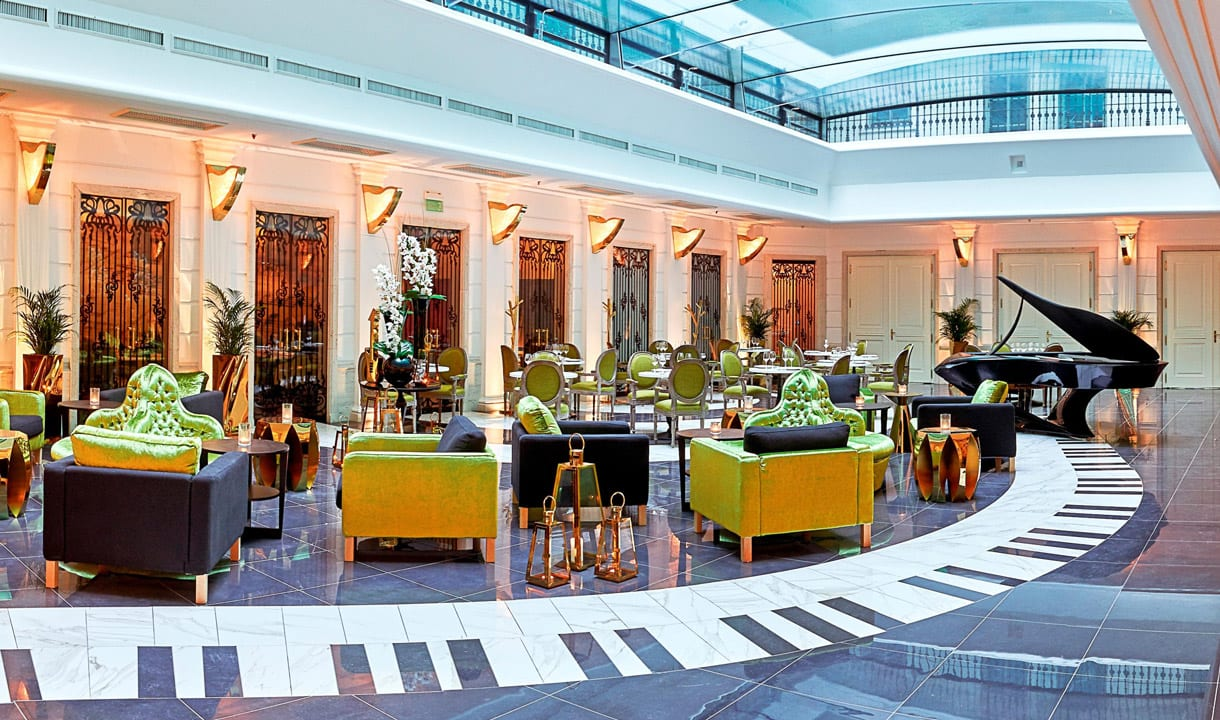 Lobby de l'hôtel Aria