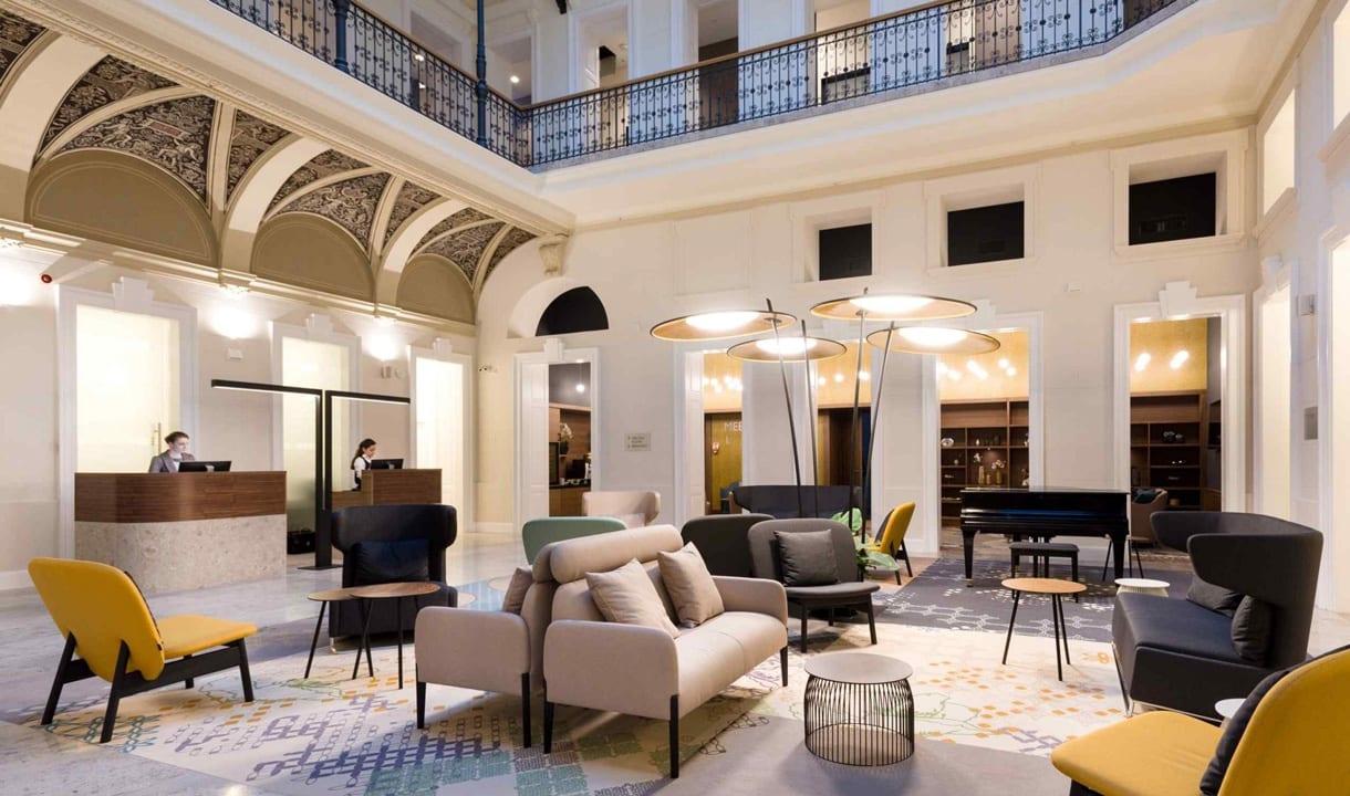 Lobby de l'hôtel Moments